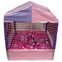 Piscina de bolinhas Rosa e Roxo 1 x 1 m com 500 bolinhas - Natalplast