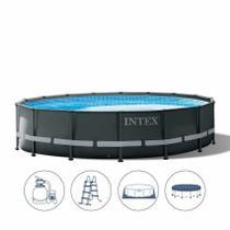 Piscina Estrutural Ultra Frame 19.156 Litros Completa Ultra XTR Intex -