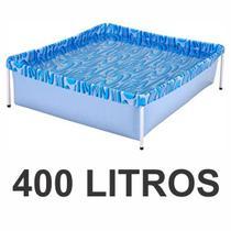 Piscina Infantil 400 Litros Estrutural Retangular Verão Estampada Mor -