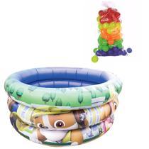Piscina Infantil Inflável bebê  criança 38 litros personagens  Disney Com 50 bolinhas e mini bomba - Zein