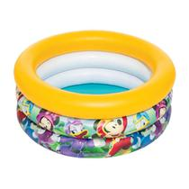 Piscina Infantil Inflável Mickey and The Roadster Racers - 38 Litros Bestway (REF: 91018) amarela -