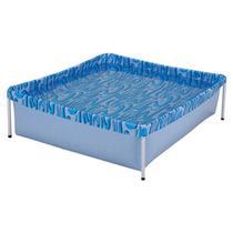 Piscina Infantil Quadrada Estrutural PVC 400 Litros - Mor -