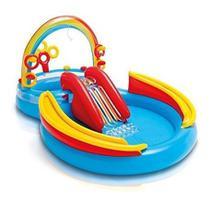 Piscina Inflável C/ Escorregador Playground Intex 57453 Off -