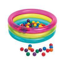 Piscina Inflável Infantil 50 Bolinhas Intex - Multi Colorido -