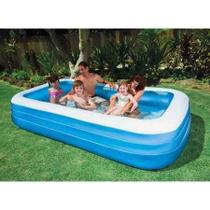 Piscina Inflável Intex Familiar 1000 Litros Retangular 58484 -
