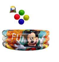 Piscina Inflável Mickey 100 L com 100 Bolinhas - Etitoys