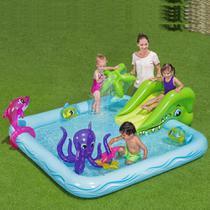 Piscina Inflável playcenter Aquário com Escorregador Bestway -