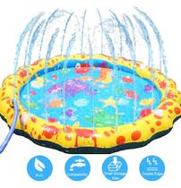 Piscina inflavel spray de agua infantil tapete de atividades mc8002 - Mega Compras