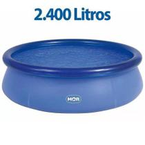 Piscina redonda inflável 2400 litros 2,40m x 63cm marca MOR -