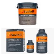Piso Cimento Queimado 15 KG e Kit Resina Piso - Suvinil -