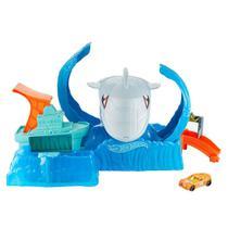 Pista de Percurso e Veículo - Hot Wheels - City - Robô Tubarão - Mattel -