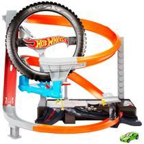 Pista de Percurso - Hot Wheels - Oficina Mecânica - Pista Motorizada - Mattel -