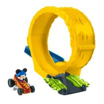 Pista e Veículo - Disney - Mickey Mouse - Aventuras Sobre Rodas - Mickey Mustard Run - Fisher-Price - Fisher price
