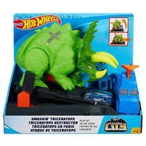 Pista E Veículo Hot Wheels Smashin' Triceratops - Mattel -