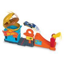 Pista Hot Wheels - City Downtown - Loja de Hambúrguer - Mattel -