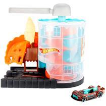 Pista Hot Wheels - City Downtown - Loja de Sorvete - Mattel -