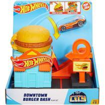 Pista Hot Wheels City Loja HamburgUer Mattel -