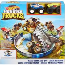 Pista Hot Wheels Monster Trucks Batalha Do Tubarão Mecha Fyk14 - Mattel