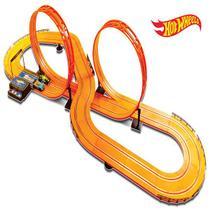 Pista Hot Wheels Track Set Deluxe 632cm com 2 Carrinhos + 2 Controles Indicado para +5 Anos Multikids - BR083 -
