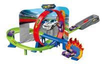 Pista Speedster Duplo Looping com Carrinho Polibrinq Car010 -