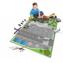 Pista Tapete Em Lona Para Brincar De Carrinho MTP14 Aeroporto - Geladeiramania