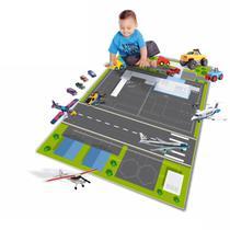 Pista Tapete Em Lona Para Brincar De Carrinho MTP15 Aeroporto - Geladeiramania