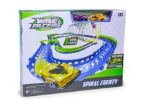 Pista Wave Racers + 2 carros  Spiral Frenzy  Sensor de Aceno  DTC -