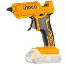 Pistola Aplicadora de Cola Quente à Bateria Lítio 20V sem Bateria e Carregador INGCO-CGGLI2001 -