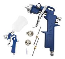 Pistola de pintura hvlp profissional 1,8mm 600ml c/ kit 5457 titanium -