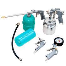 Pistola De Pintura Kit Para Compressor De Ar Com 5 Pçs - Steels/Mtx