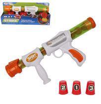 Pistola Lanca Bola Espuma Com 12 Bolas 3 Copos Ball Strike Na Cartela Wellkids - Wellmix