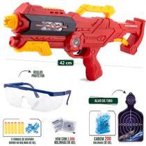 Pistola Super Shot Dual Fight Lança Dardos +bola De Gel Nerf - Polibrinq