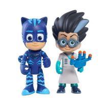 PJ MASKS Heroi com LUZ e Inimigo Menino Gato e Romeo Lunar DTC 4384 -