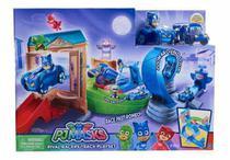 PJ Masks Super Pista de Rivais Menino Gato C/ 2 veiculo - DTC -