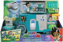 Pj Masks Veiculo e Laboratório Do Romeo 2 em 1 C/ Luz E Som DTC -