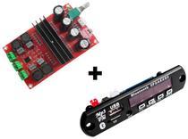 Placa Amplificador 200w Rms + Decodificador Bluetooth 2x100w - Brasil Home