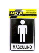 Placa Banheiro Masculino (E) - Acesso