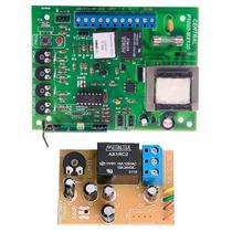 Placa Central Motor Portão Eletrônico Compatível Mx30 Kx30fs DZ3 DZ4 Nano Rossi + Placa Luz De Garagem - Ipec