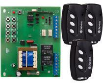 Placa Central Motor Portão Eletrônico Rossi Dz3 Dz4 Nano Sensor Hall Reed Switch + 3 Controles 3 Canais com Clip de Fixação - IPEC