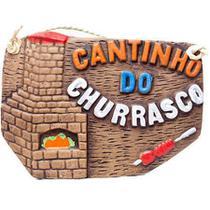 Placa churrasco - cantinho do churrasco - Retrofenna