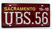 Placa de Carro Decorativa Alto Relevo - Kit kot