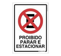 Placa de Estacionamento Proibido Parar e Estacionar - Photofilm