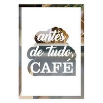 Placa De Frases Cantinho Do Café Em Espelho Modelo FR6VW - Decolors