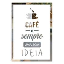 Placa De Frases Cantinho Do Café Em Espelho Modelo FR6XY - Decolors