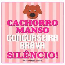 Placa de Porta Cachorro Manso - Marca Fácil