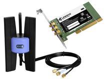 Placa de Rede Wireless PCI 300 Mbps - Linksys WMP300N-LA
