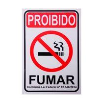 Placa De Sinalização Proibido Fumar 20X30 Pacific - Ps23 F5e -