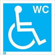 Placa de Sinalização Wc Cadeirante 20X20Cm Brcontroll d45d3ec6bf
