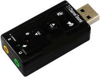 Placa de Som Adaptador 7.1 USB entrada P2 DL-S71 - Psm