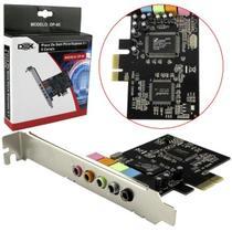 Placa De Som PCI-Express Com 5 Canais DP-65 DEX -